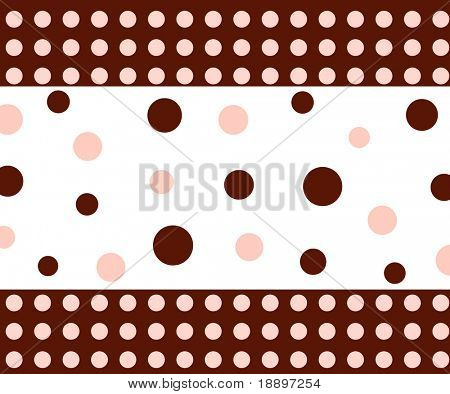 Funky dots and circle pattern