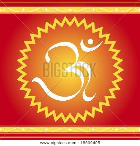 Indian OM symbol design