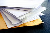 stock photo of scribes  - Pile of letters - JPG