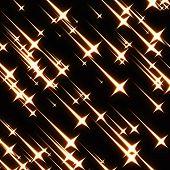 pic of meteoric rain  - Falling stars illustration - JPG