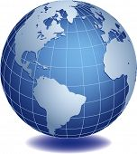 image of world-globe  - Vector illustration of world globe - JPG