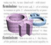 stock photo of dominant woman  - a symbol of female dominance or femininity - JPG