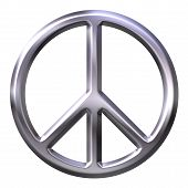 foto of peace-sign  - 3D peace symbol that is isolated in white - JPG