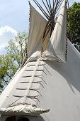 image of tipi  - A native American Indian tipi  - JPG