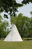 picture of tipi  - A single tipi  - JPG