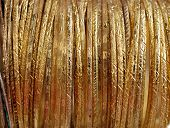image of dowry  - close up of gold bracelets - JPG