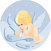 vector image of Cupid - angel of love
