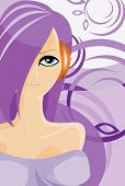 stock photo of cartoon people  - vector image of pretty girl - JPG
