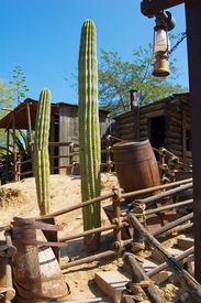 picture of wild west  - nature and architecture in the wild west style - JPG