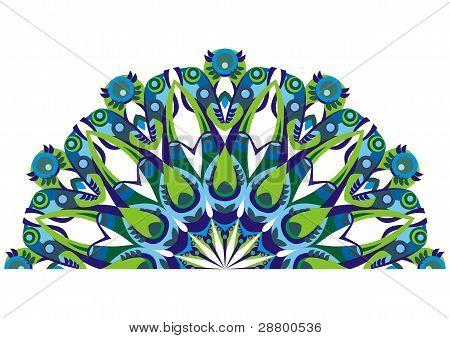 Decorative Tail Peacocks