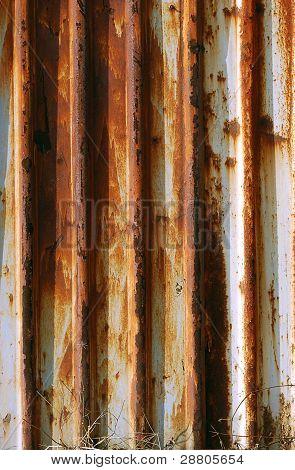 Corrugated rusty iron wall