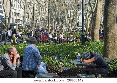 entspannende Bryant park