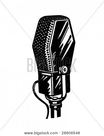 Microphone 3 - Retro Clipart Illustration