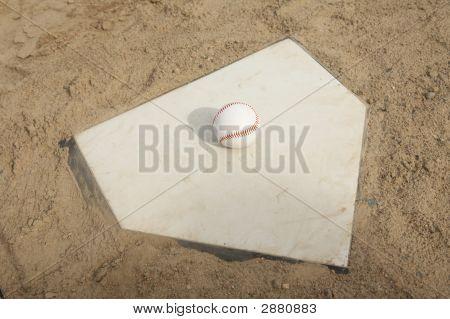 Baseball On Home Plate
