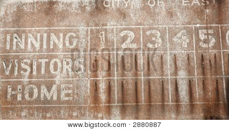 Old Baseball Scoreboard Background