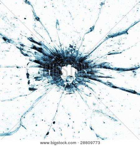 Bullethole in a window