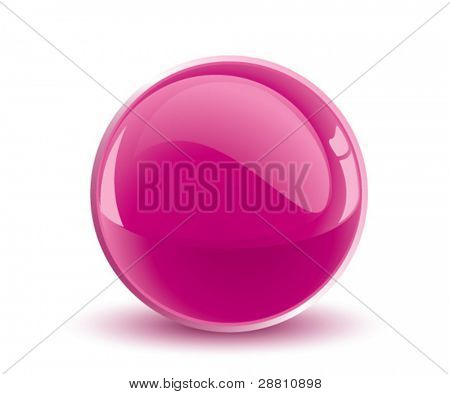 3d vector purple sphere