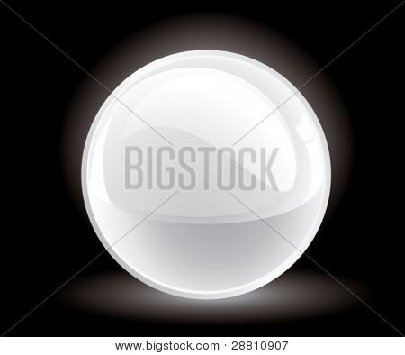 3d vector white sphere