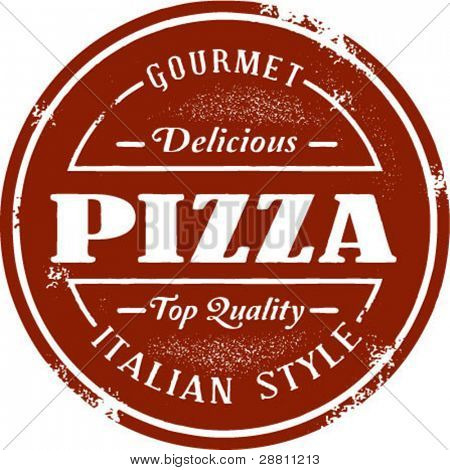 Gourmet Pizza sello Vintage