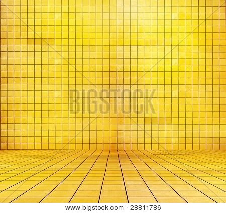 golden mosaic room, gold background