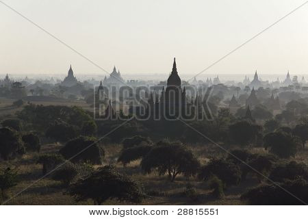 Sunrise over temples of Bagan, Myanmar