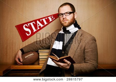 Male College University Student Vintage Classic Look