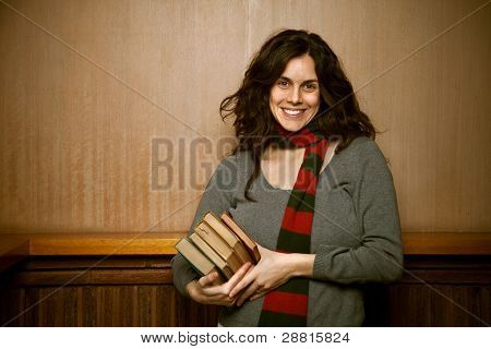 Female College University Student Vintage Classic Look