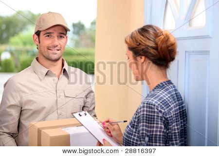 man delivering pallet