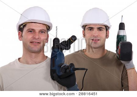 Man with drill in hand