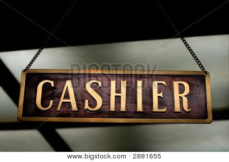 Cashier Sign - Label