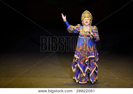MOSCOW - MARCH 17: Ludmila Rumina at concert of Gennady Ledyakh School of Classical Dance in theater Et Cetera, on March 17, 2011 in Moscow, Russia. Concert held for winners in competition.