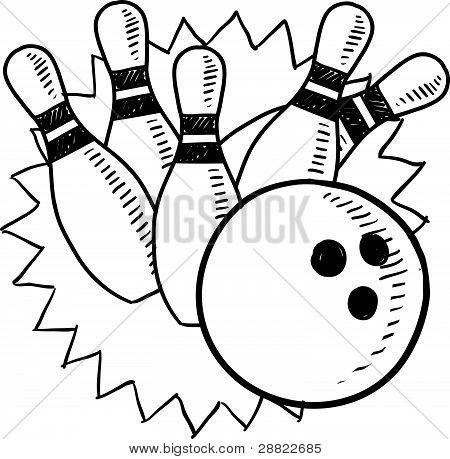 Bowling Skizze