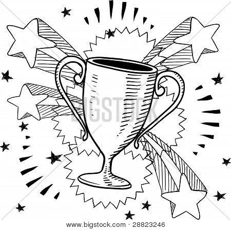 Desenho de troféu