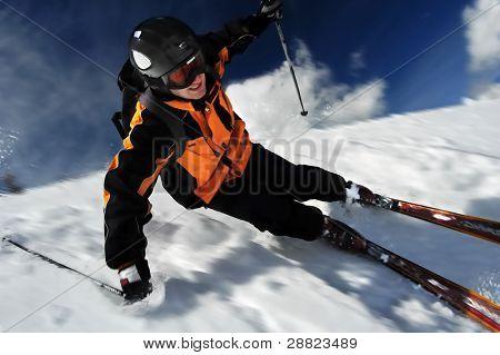 O esquiador