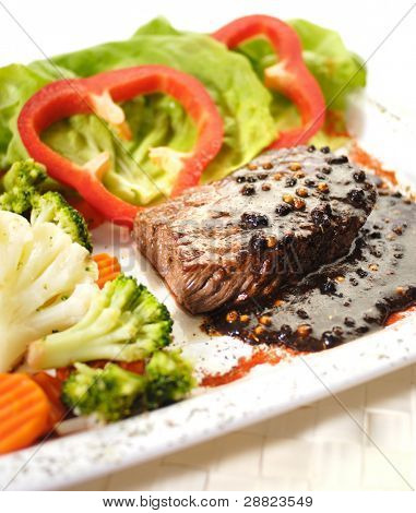 The Beef Steak with Pepper