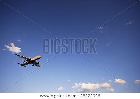 Airplane on landing