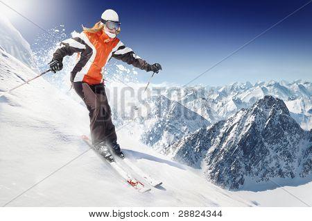 En el esquí