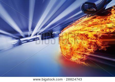 Car in fire