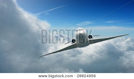 Private JET in the sky