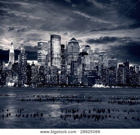 Manhattan de Nova York, tirada do lado de jersey - hoboken