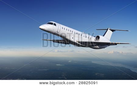 Private Jet plane in the sky