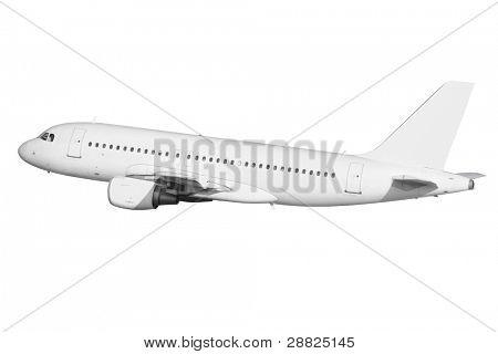Listo avión aislado - superficie clara - para editar