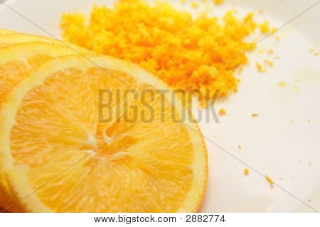 Orange Slices And Grated Peel