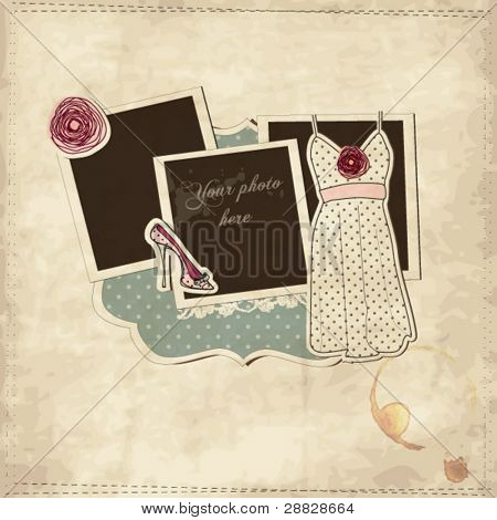 Vintage fashion scrap  set