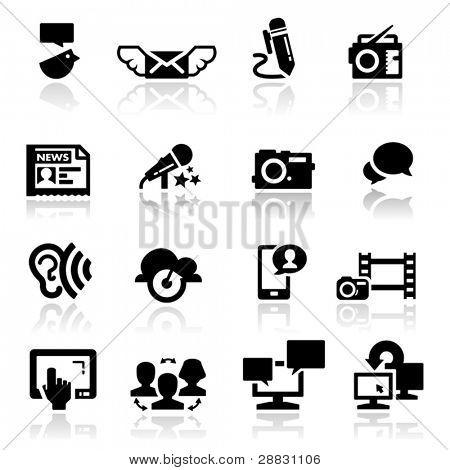 Icons set social-media