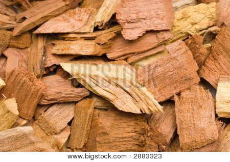 Extreme close up of Mesquite-chips