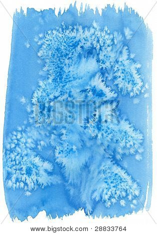 blue watercolor background (isolated)