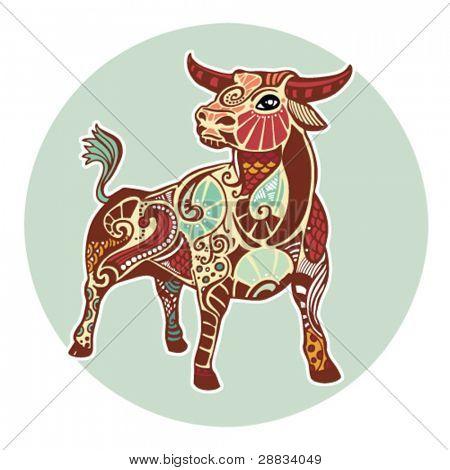 Signos do zodíaco - Touro (colorido)