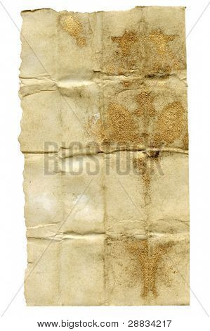 grunge paper (with gold)