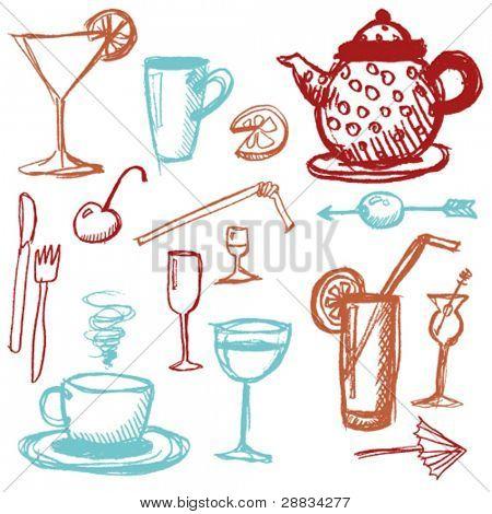 doodle set - beverages